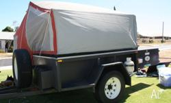 This camper trailer is custom built for off road