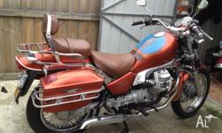 I have my custom moto guzzi Nevada club 750, it's got a