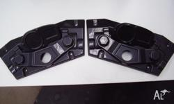A pair of NAMCO Cyber Cycle Handle Bar Covers in near
