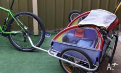 Cycle Carriage / Buggy attachable to bike or push Some