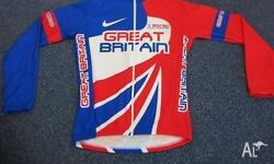 GREAT BRITAIN TEAM CYCLING SHIRT - SIZE M 50 CM ARMPIT