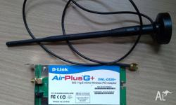 D-Link AirPlugG+ DWL-G520+ 802.11g 2.4GHz Working,