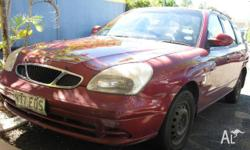 DAEWOO, NUBIRA, 2000, FWD, Red, Grey trim, 4D WAGON,