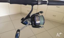 Daiwa heartland 3000 spinning reel on T-curve inshore