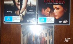 3 x DVD sets. (total 9 discs) As new, viewed once