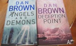 DAN BROWN (2) DECEPTION POINT,ANGELS AND DEMONS.VERY