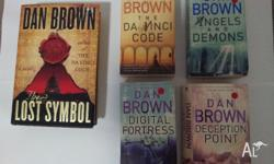 A Selection of Dan Brown Books. 4 softcovers, 1