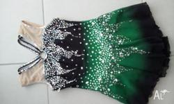 Green and black sparkly with sequences dance/skating