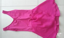 Pink dance/skating costume/leotard. Approx size 6-10.