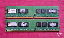 DDR2 Desktop Ram Memory $15 pair or $25 the lot All