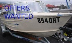 Older boat with good trailer and Yamaha 2004 40Hp oil