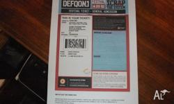 One defqon 1 ticket FOR SALE I am unable to attend im
