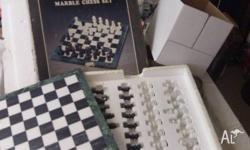 Quality Deluxe Marble chess set. Board is thick marble