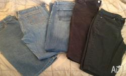 Ladies Size 14 denim jeans and shorts 1 x rock mans