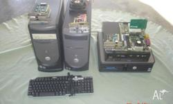 Selling for a friend four Desk top PC , Keyboard , fans