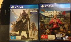 Destiny for PS4 $50 Farcry 4 for PS4 $50 Or both for