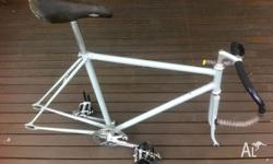 deus frame set . dura ace headset . nitto bars and stem