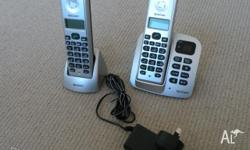 A home phone set for sale that consists of two digital