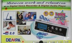 Hand held voice recorder and audio player is perfect
