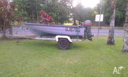 MUST SELL Fibre glass dinghy, mariner motor in working