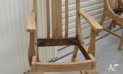 6 Dining Chairs: 4 Single chairs and 2 Carvers. HIgh