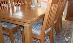 I have a set of 8 dining chairs, honey colour tas. oak.