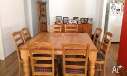 Dining Suite in good condition 8 seater square. $350.00
