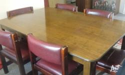 Large Wooden Dining Table, measuring approx 180 cms