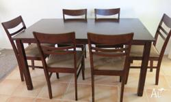 Dining suite in good condition Table and 6 chairs