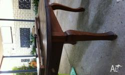 Original hardwood dining table built in the 1930's. Has
