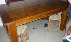 Recycled timber solid dining table, 900x1500cm,