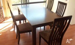 Matching dinning table and chairs for sale. Originally