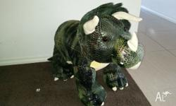 "Animal Planet 25"" Triceratops Dinosaur sit on. Press"