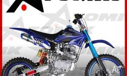 DIRT BIKE ,ATOMIK LINK ,250cc,2011, Chain, BLACK / BLUE