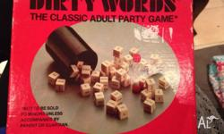 Dirty Words -the Classic Adult Party Game All 23 word
