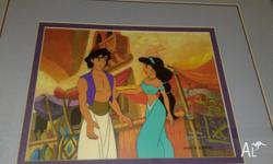 Aladdin hand painted cel. 1/1. Comes with original COA.