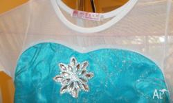 Disney Frozen Elsa Costume suit size 6-8 year old. In