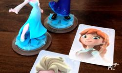 Anna & Elsa characters (Disney Infinity) with cards -