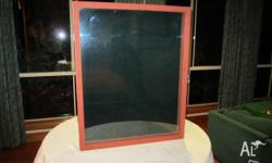 On offer is a display cabinet. It has a glass front,