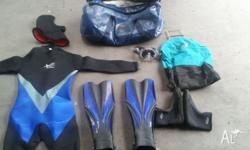for sale: TLE 6mm one piece dive suit with hood size L