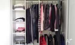 Wardrobe Interior Cut to your Required Width - with 3
