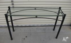 Do you need a wrought iron hall table Black metal and