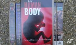 Nine documentries and ten tapes,BBC The Human Body ( 2