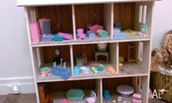 Doll House for sale - very well made - all furniture