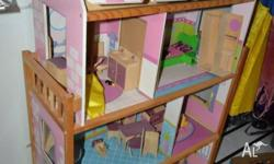 Well loved dolls house. As shown in photo. First to