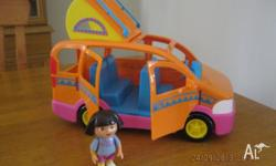 IN GOOD USED CONDITION COMES WITH 1 DORA FIGURE HAS 4