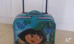 This cute Dora the Explorer wheelie suitcase is fun and