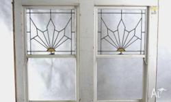 Double hung windows from the Art Deco & Post war