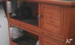 double rabbit hutch as new 2 mths old cost $220 sell