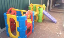 Play gym in very good used condition No split cracks No